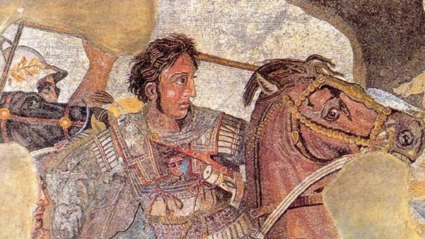 Pintura que representa Alejandro Magno